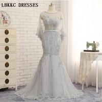 Grey Mermaid Evening Dresses With Beaded Floor Length Elegant Mother Of The Bride Dress Robe De Soiree Longue