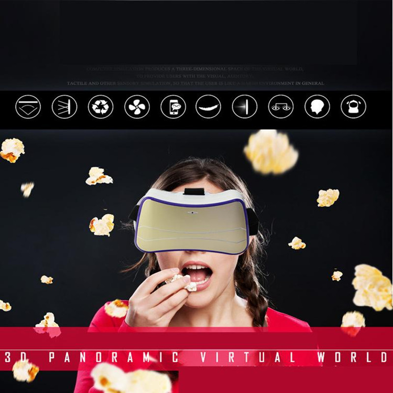 New Arrival font b VR b font 3D Video Glasses Movie Screen Mini Theatre Latest Quad