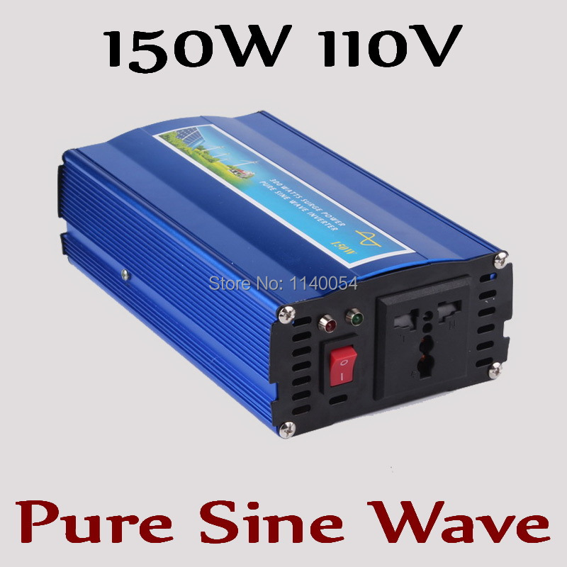 Fast Shipping! 150W off grid inverter, pure sine wave inverter for solar and wind system 110V DC to AC 100/110/120/220/230/240V wind solar hybrid system dc ac off grid 12v 220v pure sine wave 1500w inverter