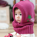 New Arrival Unisex Kids Knitted Crochet Winter Warm Hats Cap Scarf Shawl Earflap Beanie