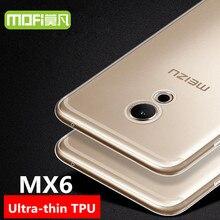 Meizu MX6 case MOFi original Meizu MX6 back cover TPU case silicon soft transparent MX 6 phone cases 5.5″ housing hard