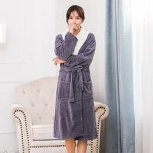 FL120C Sweat Tmall Flannel Robe Lingerie Batas De Mujer Robes Bathrobe Women Peignoir Femme Soiree Night Sleepwear