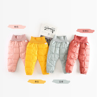 new arrive baby pants boys girls thicking pants candy colored abdomen protecting trousers NZ538