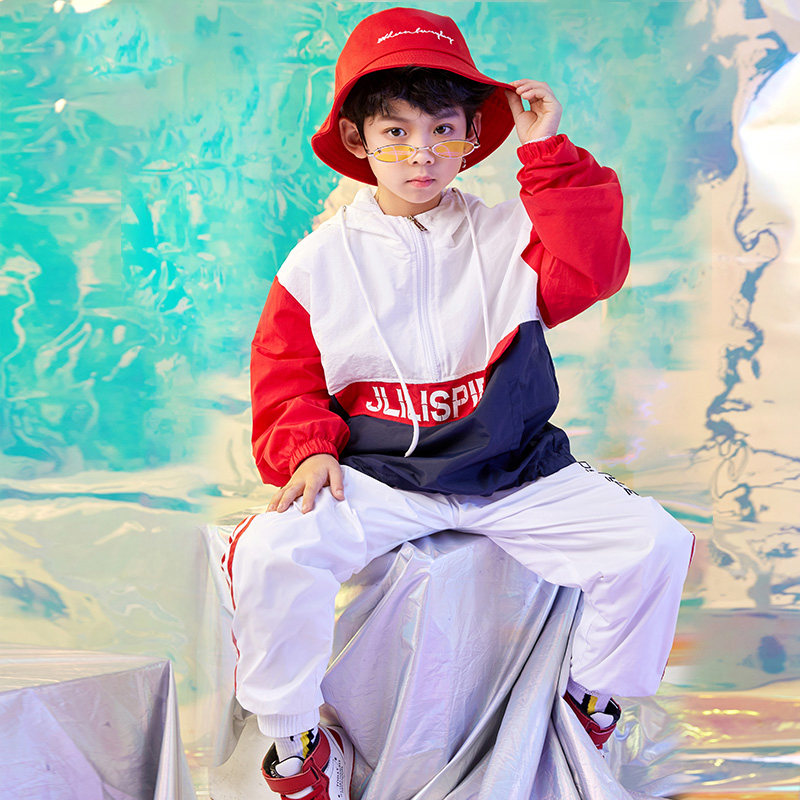 Jazz Dancing Costumes For Boys Suit Modern Dance Costumes  Dance Clothing Performance Kids Stage Show Dancing Costume DQS1080