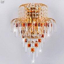 Высококачественный золото кристалл светильник настенный светильник-звездочный отель и вилла проекта Настенные Светильники Rmy-0301