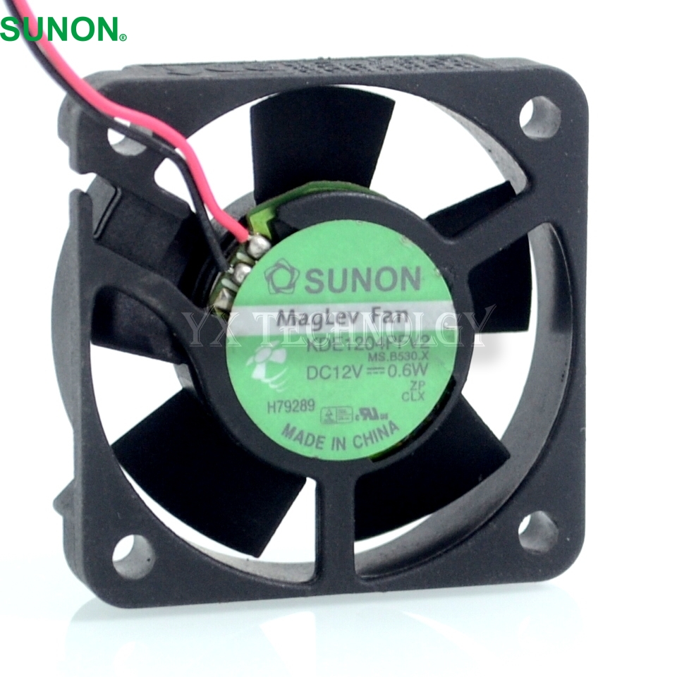 made in  Taiwan KDE1204PFV2 40*40*10MM   2 wire 4010 12V 0.6W velocity transducer  fan for SUNON лупа bao workers in taiwan ma 1003mf 3d 12