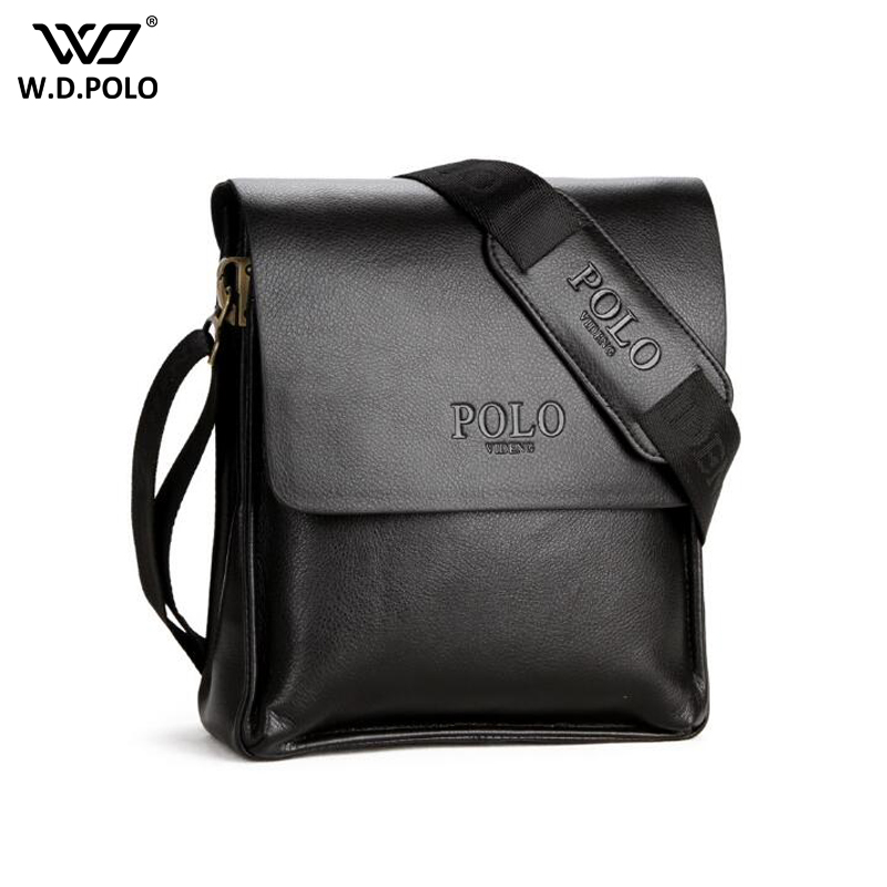 WDPOLO new Men Messenger leather handbag casual shoulder bag business contract bags men cross body bag vintage mens bags C368 new casual business leather mens messenger bag hot sell famous brand design leather men bag vintage fashion mens cross body bag