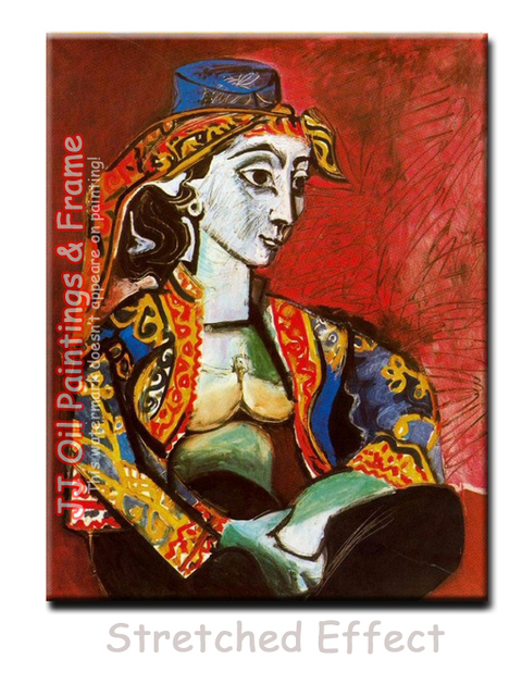 US $69 0 |Picasso Paintings Jacqueline in Turkish Costume Brilliant Oil on  Canvas Fireplace Wall Painting Fashional Abstract Painting Art di Painting