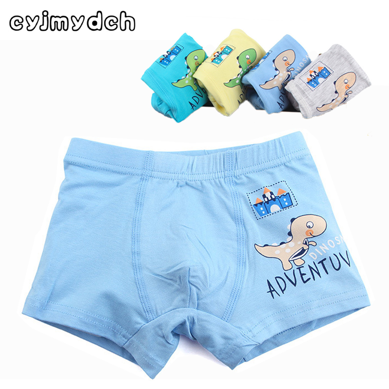 3pcs/lot Organic Cotton Dinosaur Briefs For Boys Baby Panties Teenager Children Panties For Boys Underwear Kids Boxers