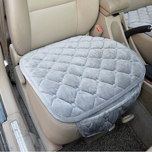 Araba koltuğu koruyucu kapakları sürücü sandalye minderi araba koltuk minderi araba styling kadife kış sıcak koltuk minderi oto aksesuarları 11 renk