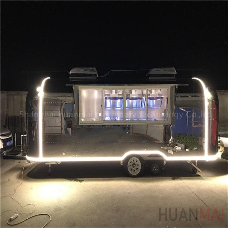 っHuanmai 2018 nuevo tipo de acero inoxidable comida móvil camiones ...