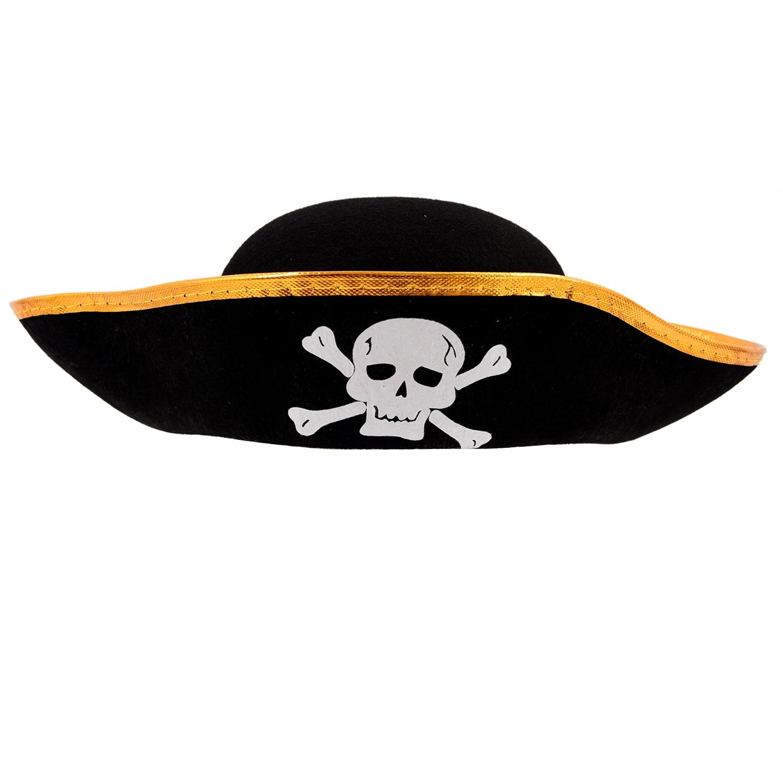 Unisex Dressing Up Black Skull Pattern Pirate Bucket Hat Cap fashionable fulled handwritten letters pattern felt bucket hat for men