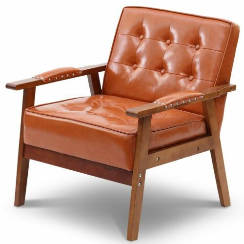 PU Leather Tufted Chair