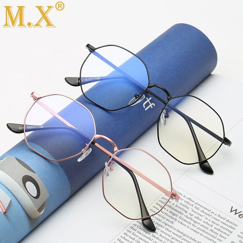 2019 Brand Men Optical Glasses Oversized Eyeglasses Frame Women Metal Computer Protection Blue Light Blocking Glasses M6273