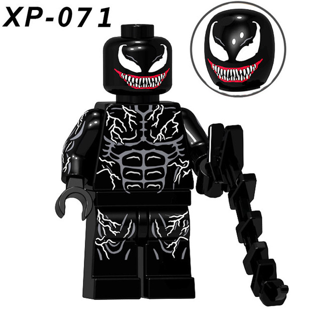 Single Sale Venom Movie Series Deadpool Spiderman Ironman Super Hero Action Building Blocks   KT1010