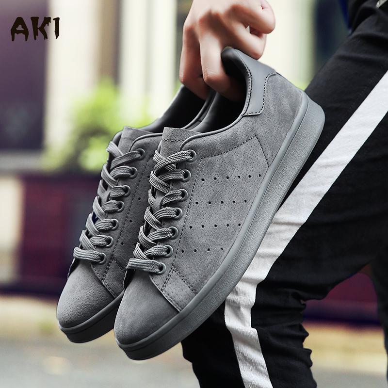 New Men font b Women b font Shoes Casual Luxury Brand Leather Stan Shoes Men Flats