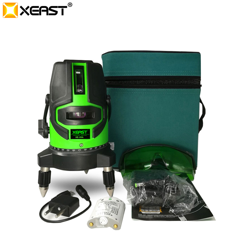 XEAST 5 lines Green laser level meter 360 degree outdoor laser level tool instrumentXEAST 5 lines Green laser level meter 360 degree outdoor laser level tool instrument