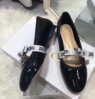 New 2019 Summer Retro Ballet Shoes nude Flat soled Shoes Round headed Leather Tie Butterfly Knot Single Shoe With box 34 40