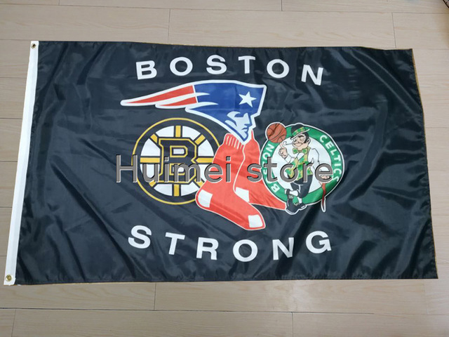 Boston Bruins AND Boston Red Sox AND Boston Celtics flag and New England