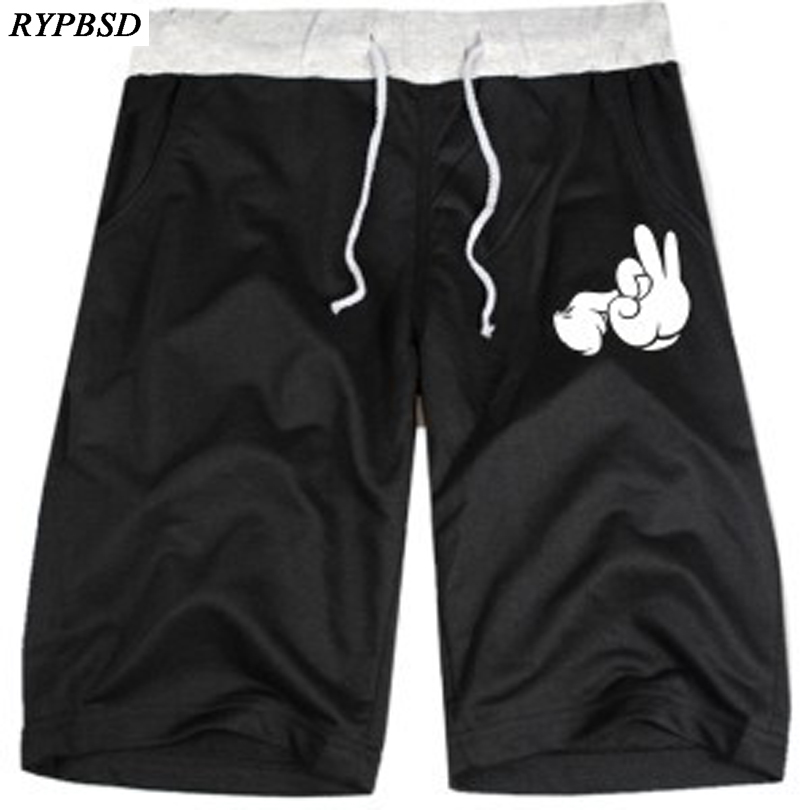 Mens Shorts Jogger Sweatpants Elastic Waist-Workout Casual New And Male Couple Mickey-Hand