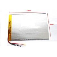 9 10 polegada grande capacidade 3.7 V bateria do tablet 6000 mah cada marca tablet universal baterias recarregáveis de lítio 3580140 Bateria e energia extra p/ tablet Computador e Escritório -