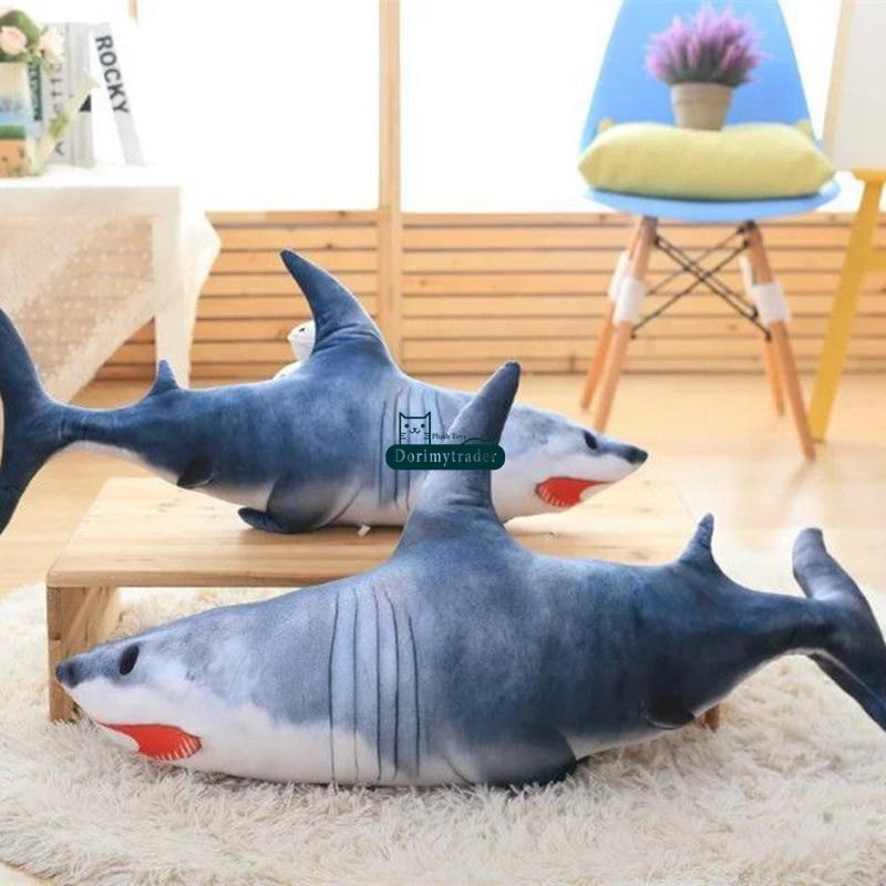Dorimytrader Pop Cute Emulational Animal Shark Plush Pillow 120cm ...