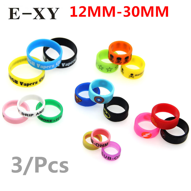 12mm-30mm Silicone Vape Seal Anime Ring Non Slip Rubber Decorative Protection Band For Diameter Atomizer Mechanical Mod RDA BOX