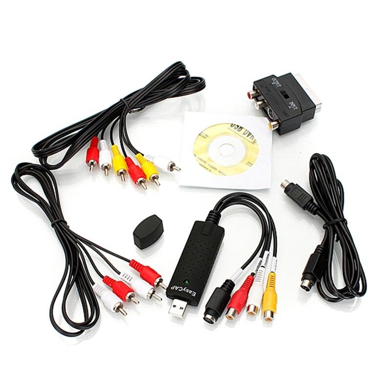 imágenes para Coche Durable USB 2.0 Video Grabber Tarjeta de Captura de Audio Adaptador De Chipset para TV DVD Digitalización Cable Adaptador de Euroconector