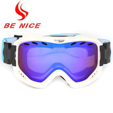 BE NICE outdoor ski goggles snowboards high coverage cylindrical snow glasses snowboard goggles anti fog for adlut 2900