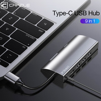 CAFELE USB HUB Type C Extension Adapter USB 3.0 Phone Docking Station for Laptop HDMI TF/SD Card 3.5mm Interface Multi Function