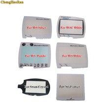 12 pçs handheld jogador de jogo plástico substituição da tela para ws wsc capa protetora para wonder swan cristal protetor lente tela