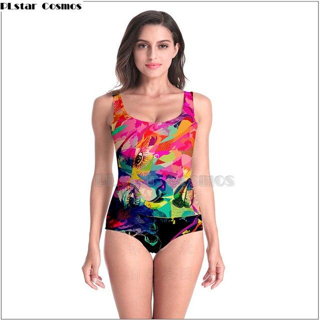 2526208d5c28 Moderno, mujeres de color por Alessandro artista sin mangas traje baño Sexy  3D estilo playa niña una pieza las
