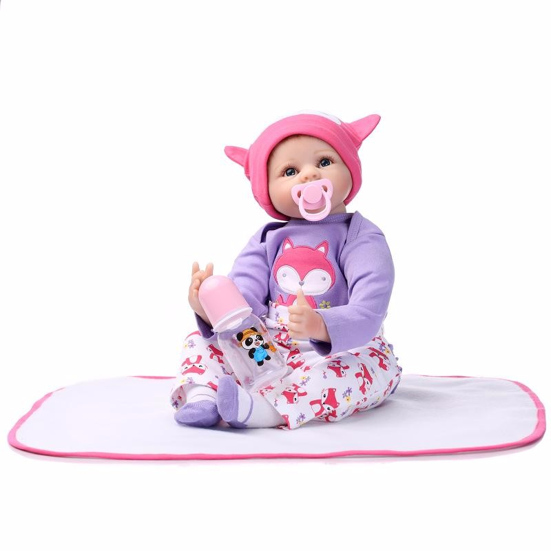 22inch Silicone reborn baby doll toys for girl  lifelike reborn babies play house toy birthday gift girl brinquedods bonecas hot sale silicone reborn babies dolls gift for child kid classic play house toy girl brinquedos baby reborn doll toys