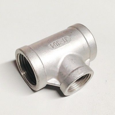 1 BSP To 1-1/4 BSP Female Thread 304 Stainless Reducing Tee 3 Way Connector Pipe Fitting water oil air 1 2 bsp eqaul female thread elbow 90 deg 304 stainless steel pipe fitting adapter connector operating pressure 2 5 mpa