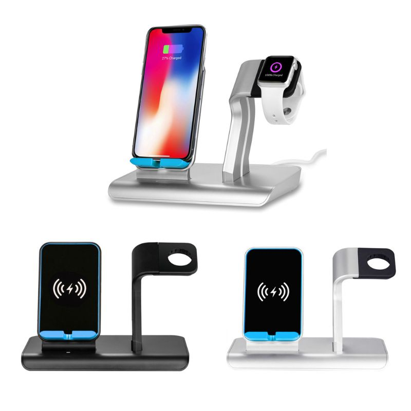 2in1 US Plug Type C Qi Wireless Charger Stand Dock for iPhone X XS XR 8 Plus Samsung S9 S8 Huawei Mate 20 Cradle Holder DEC14