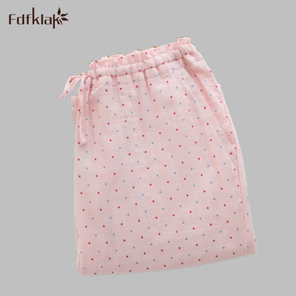 Fresh Floral Printed 2017 Spring Summer Pants Sleeping Women Pants For Home Cotton Pajama Bottoms Plus Size Sleep Trousers E1165