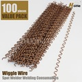 100pieces Crimped Welding Wiggle Wire,Studder standard basic kit for car spotter(WW-100)
