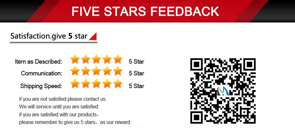 6 five stars feedback