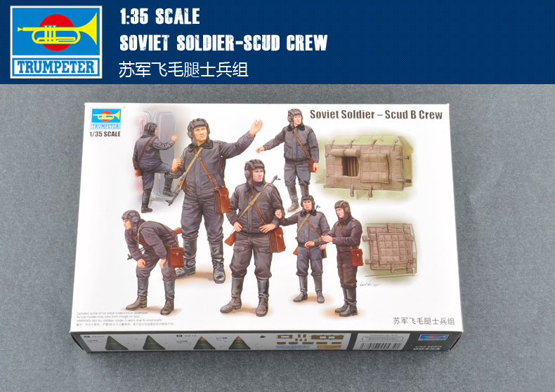 Trumpet 00434 1:35 Soviet Union The Group Of Soldiers  Scud Missiles Assembly Model Soviet Soldier-Scud Crew