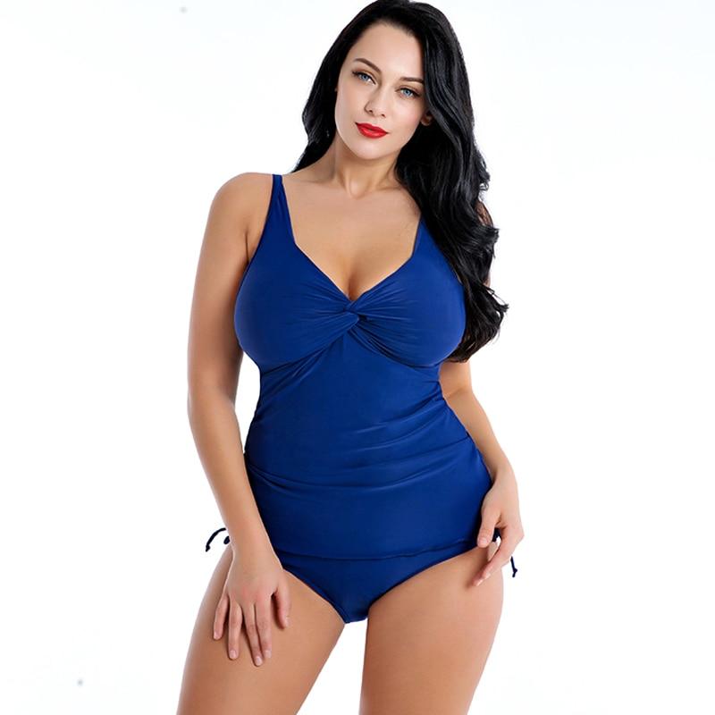 One-Piece Swimwear Swim-Suit Russian Extra Larges-Size Women