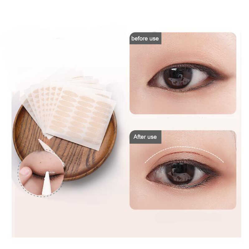 240pcs Makeup Clear mesh Eyelid Stripe Big eyes Invisible double fold  eyelid shadow sticker Double Eyelid Tape Lace Invisibility
