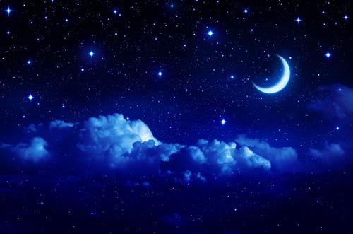 HUAYI Customized Art Fabric Beautiful Night Sky Backdrop