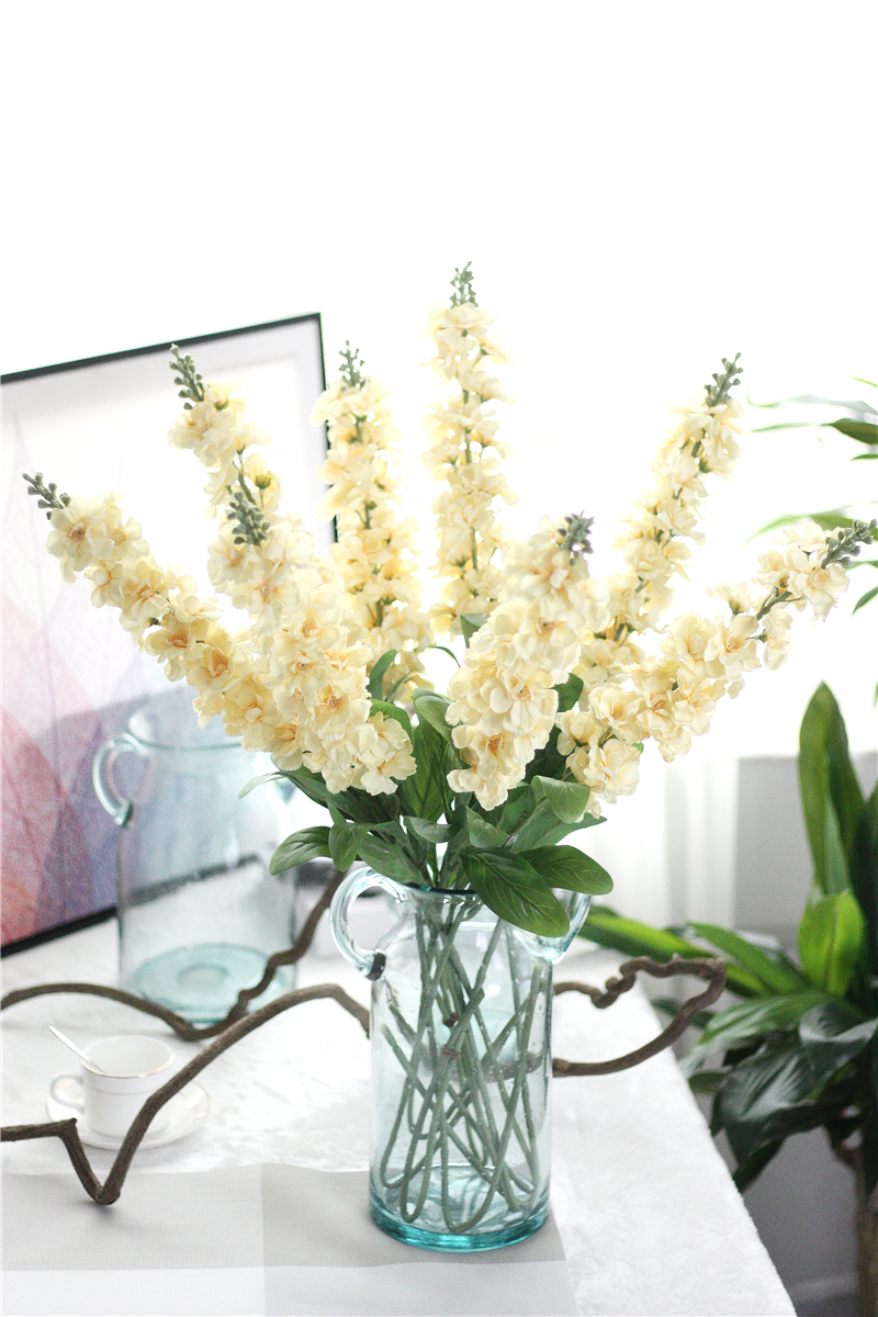 10pcs Delphinium Silk Flower Artificial Europe Wedding Hyacinth