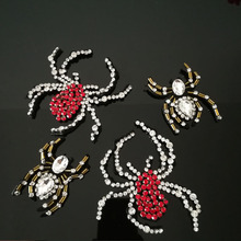 hot deal buy 4pcs rhinestone red spider beaded patch for clothing sewing on applique shirt shoes bags apparel diy decoration patches a1398