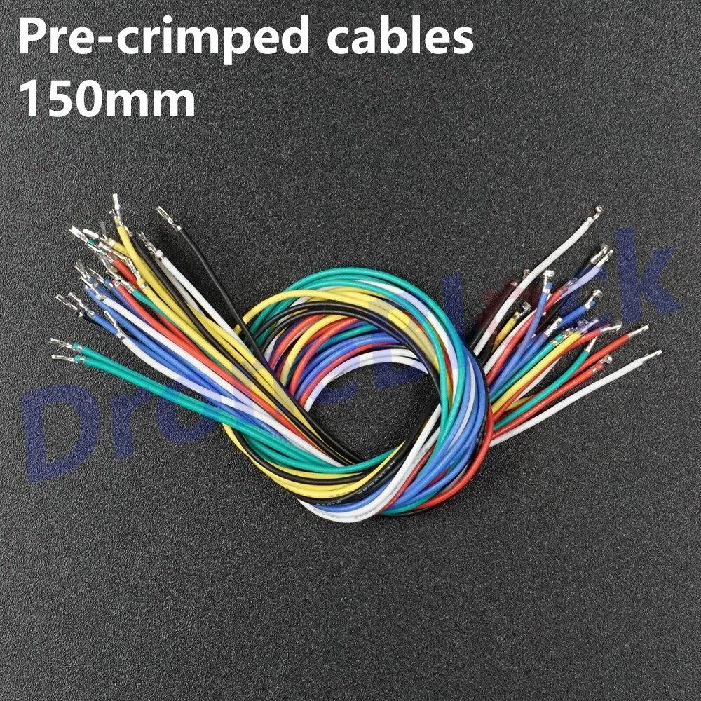 24Pcs/ a lot 6 colors Pre-crimped Cables 15cm Pixhawk2 Pixhack Pixracer PXFmini GPS Silicone Wire Pixhawk4 JST GH1.25 wire