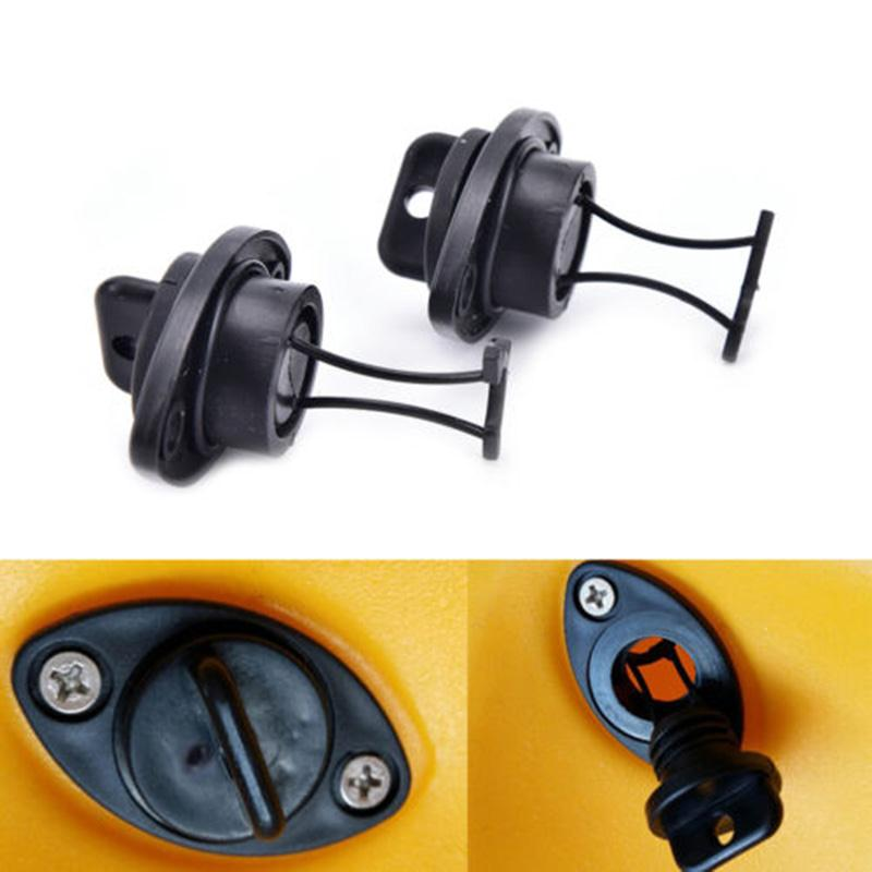 2 Pcs /Lot Universal Thread Drain Plug Bung Drain Plug Kit For Dingh Kayak Canoes Boat Stop Water Infiltration Water Out PP Fish