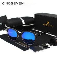 KINGSEVEN 2018 New Polarized Sunglasses Men/Women Retro Rivet High Quality Polaroid Lens Brand Design Sun Glasses Female Oculos