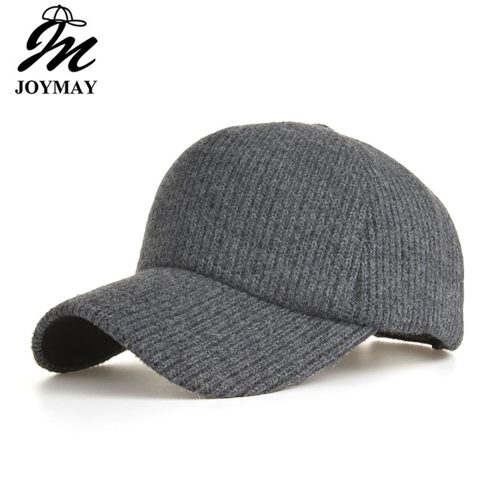 Joymay Winter Knitting   Baseball     Cap   Unisex Thick Warm Snapback HAT for Man Women B580