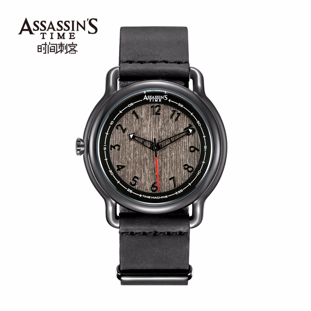 Assassin's tijd heren horloges topmerk luxe quartz horloges zwart - Herenhorloges - Foto 2