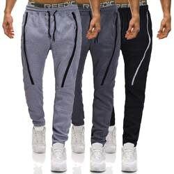 Мужские повседневные штаны Solid тренажерный зал тренировочные брюки Спортивная Для мужчин Повседневное лоскутное Спецодежда с карманами